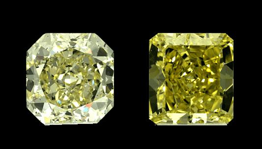 Diamants Fancy Light et Fancy Yellow